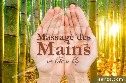 Massage des Mains en Close-Up