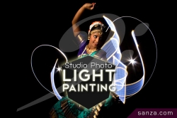 Studio Photo Light Painting